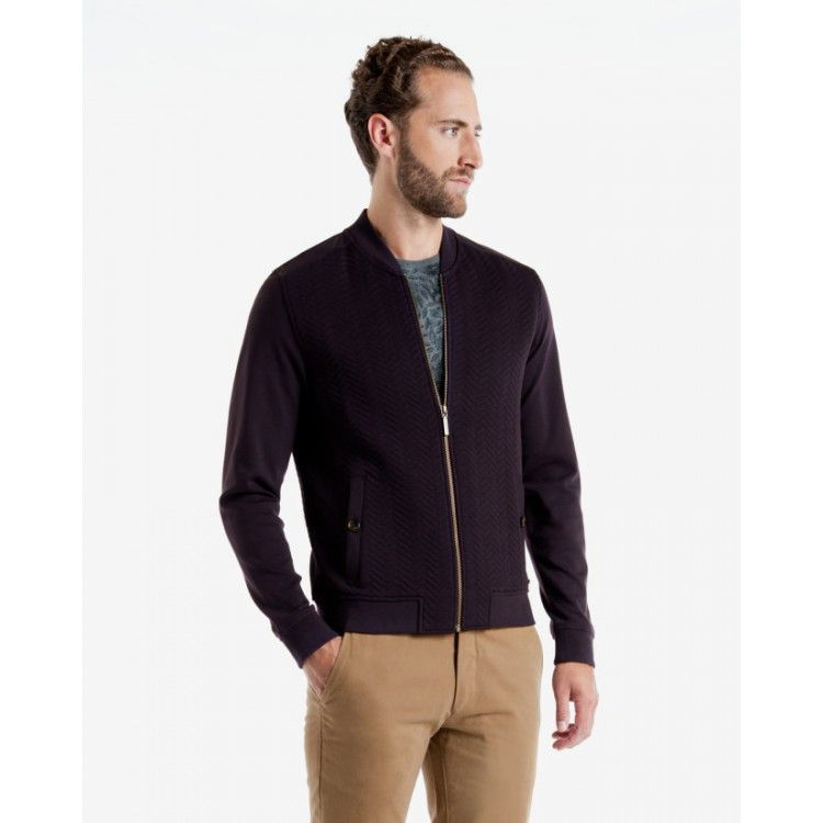 john-andy.com | Ted Baker DEEAZ Quilted herringbone bomber jacket