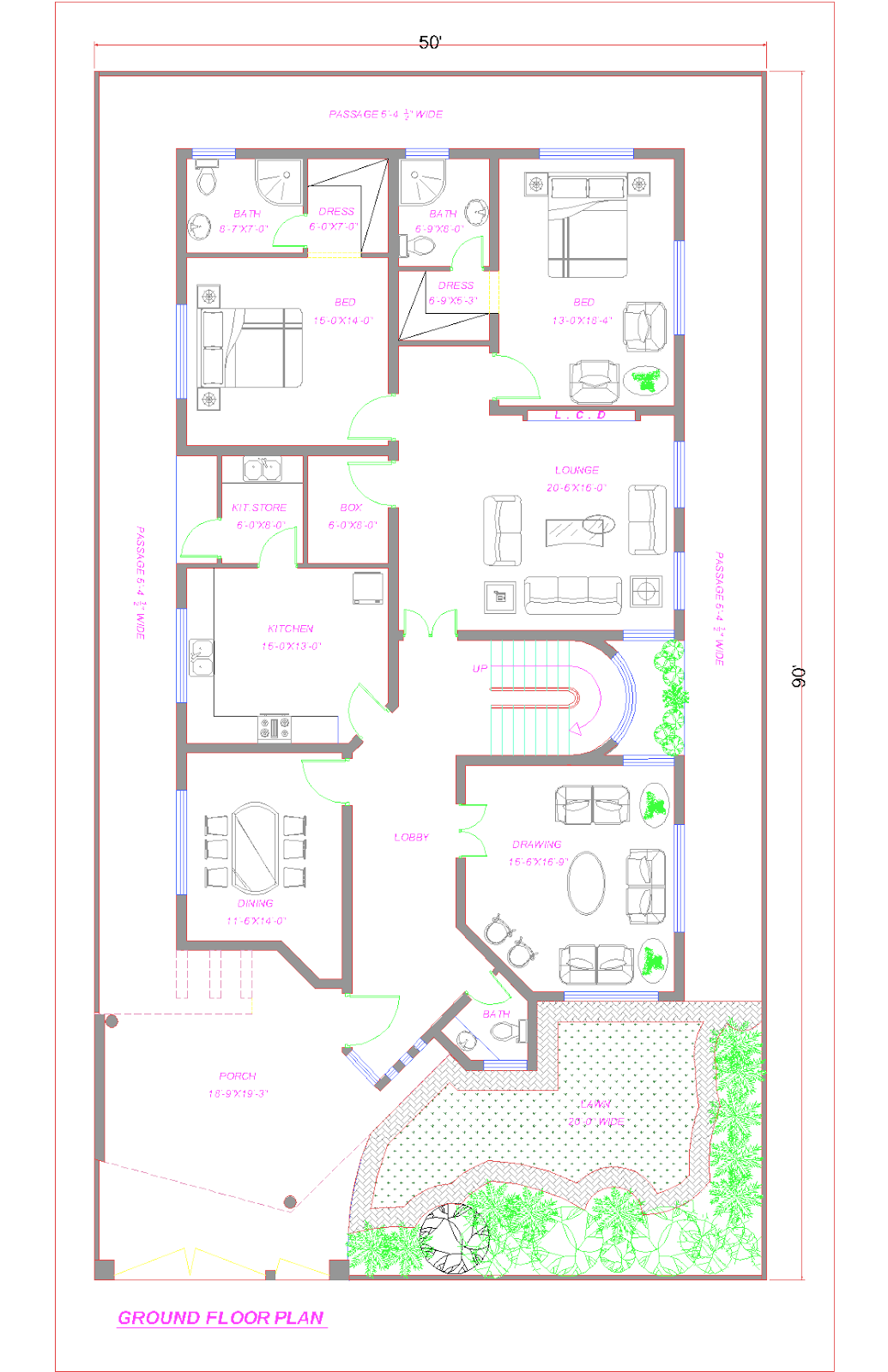 map of one floor house
