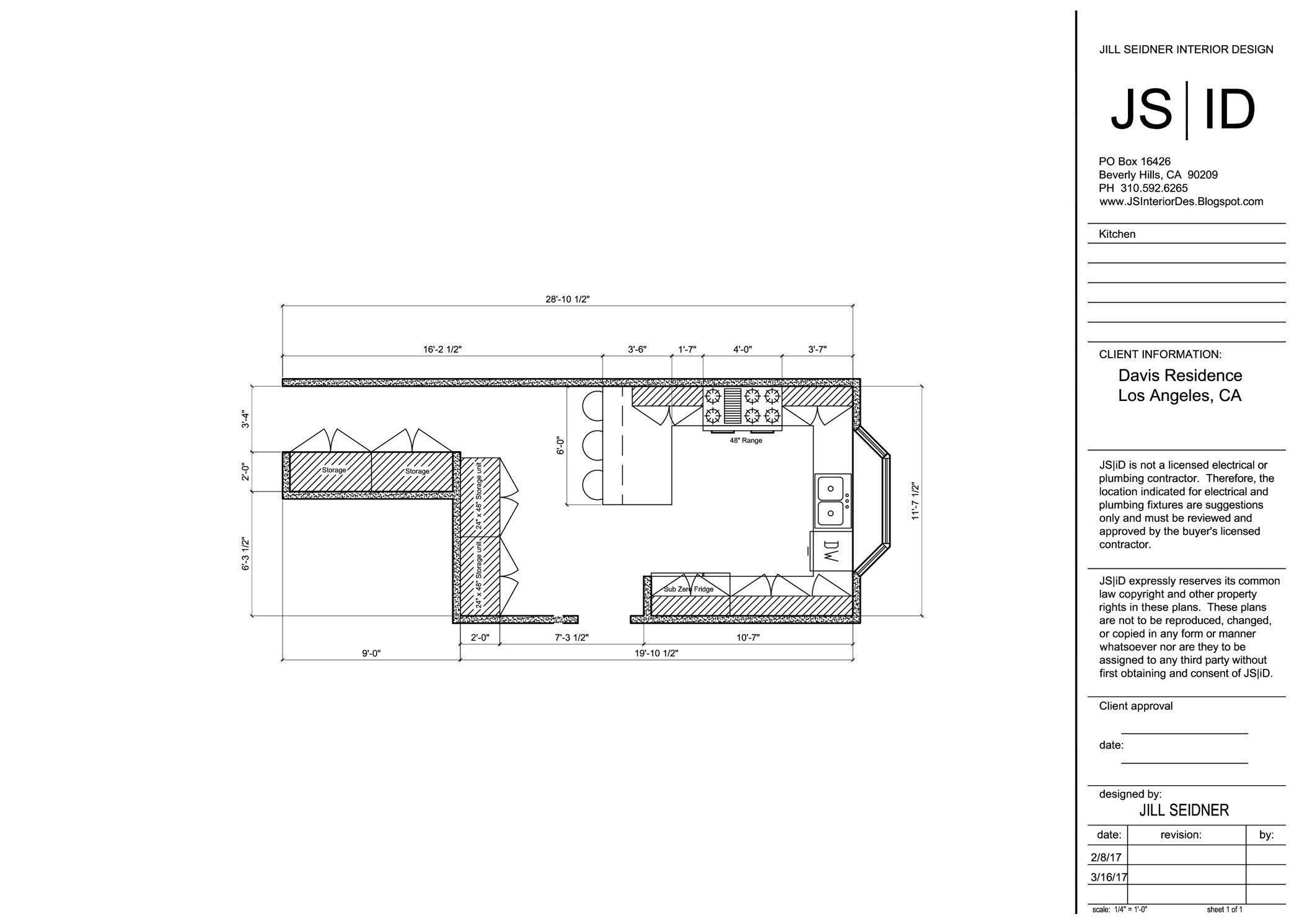 Bel Air, CA Residence Kitchen Remodel Plan Layout, Revised ...