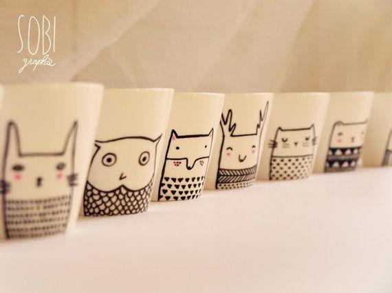 ikea tassen bemalen kipr b land projektek pinterest mugs diy mugs and owl mug. Black Bedroom Furniture Sets. Home Design Ideas