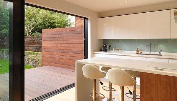 contemporary kitchen diner extensions modern kitchen ideas neutral ...