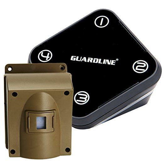 Guardline Wireless Driveway Alarm Top Rated Outdoor Weather Resistant Motion Sensor Detector Bes Driveway Alarm Wireless Home Security Systems Diy Security