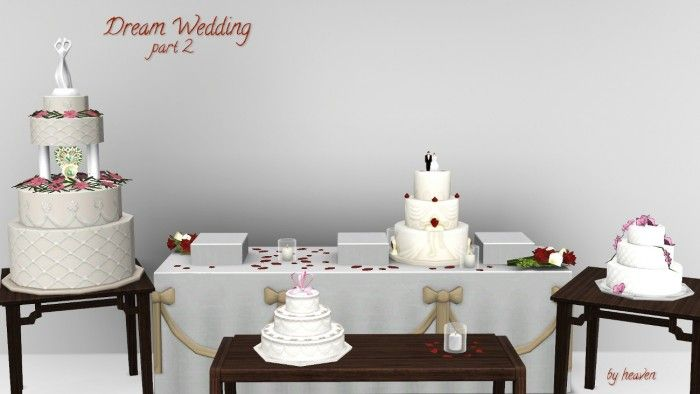 Wedding Cake At Jomsims Creations Via Sims 4 Updates CLICK PICTURE - Sims 4 Wedding Cake Cheat