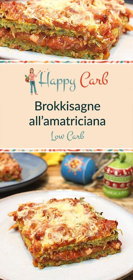Brokkisagne all'amatriciana - Happy Carb Rezepte