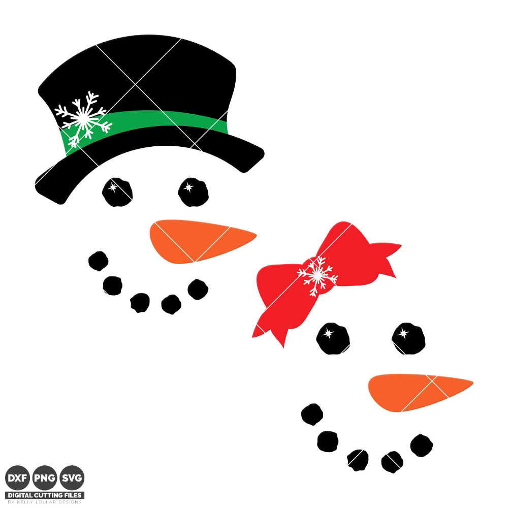 Freebie Friday Snowman faces, Cricut christmas ideas