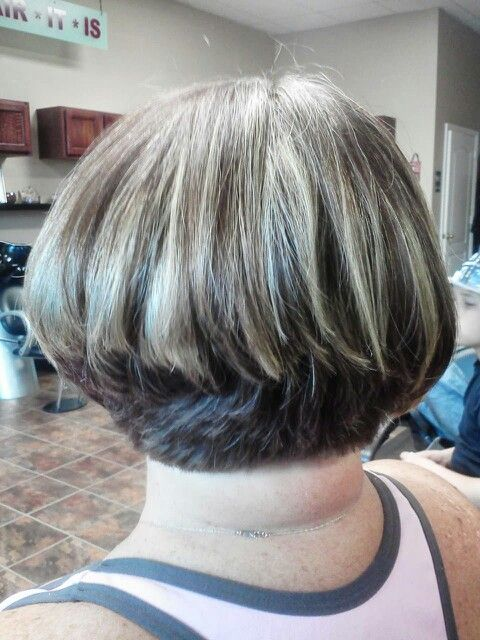 Short stacked bob gone wrong. I do NOT want this! Too blunt