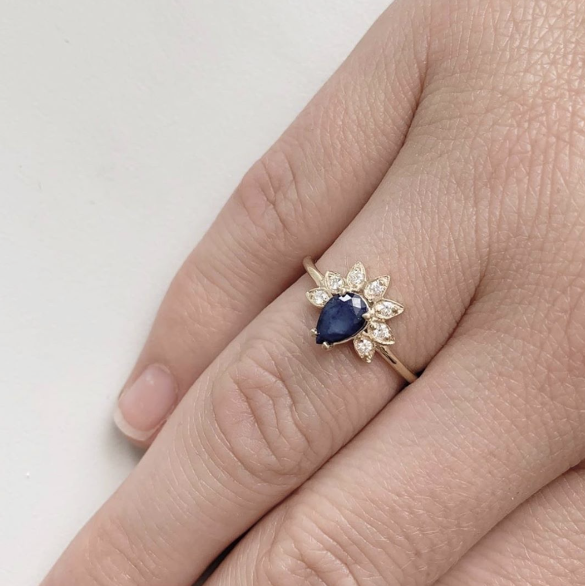 Petal Ring Wedding rings unique, Platinum wedding band