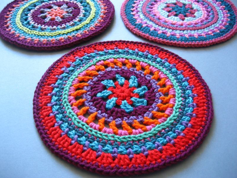 40+ Crochet Mandala Patterns | Mandalas, Tejido y Ganchillo