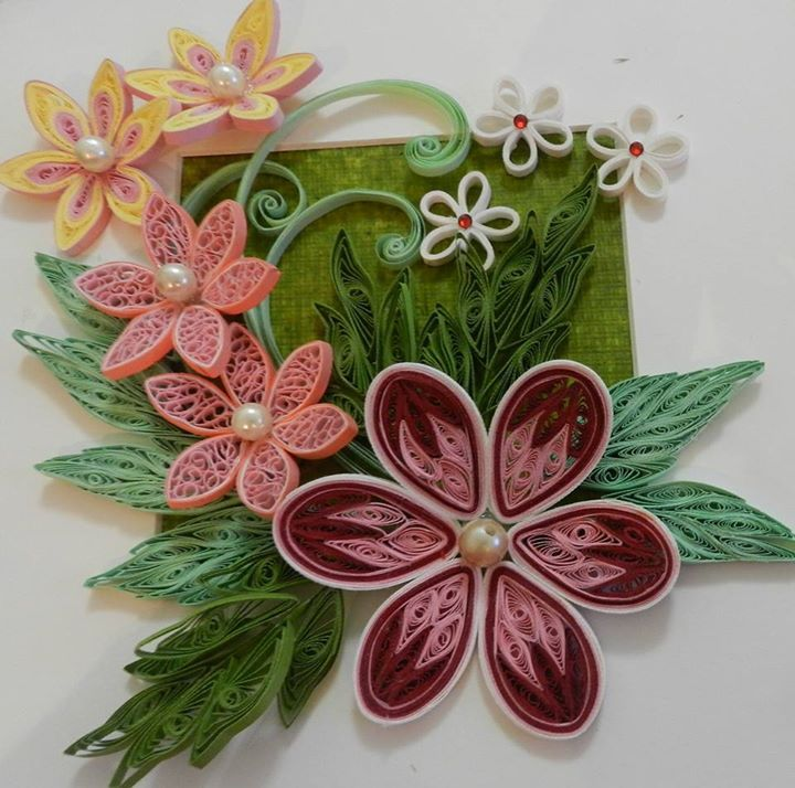 Neetu Art Works Photos From Neetu Art Works S Post In Paper Quilling Flowers Quilling Paper Craft Quilling Work