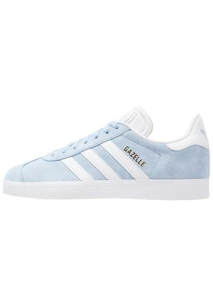 womens-light-blue-adidas-originals-gazelle-trainers-clear-sky-white ... 7530ccd17