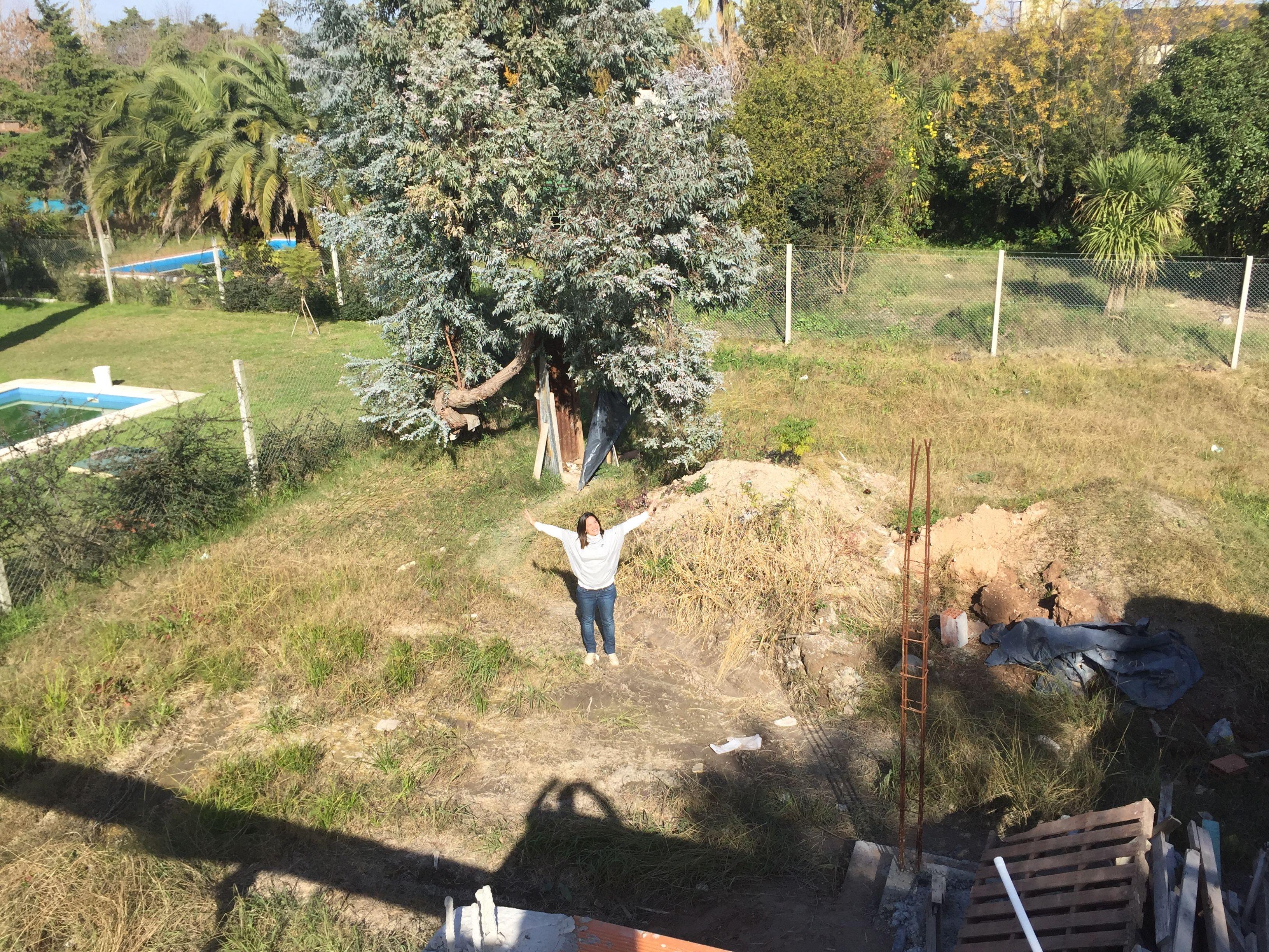 25 de mayo: futuro jardín visto desde la terraza