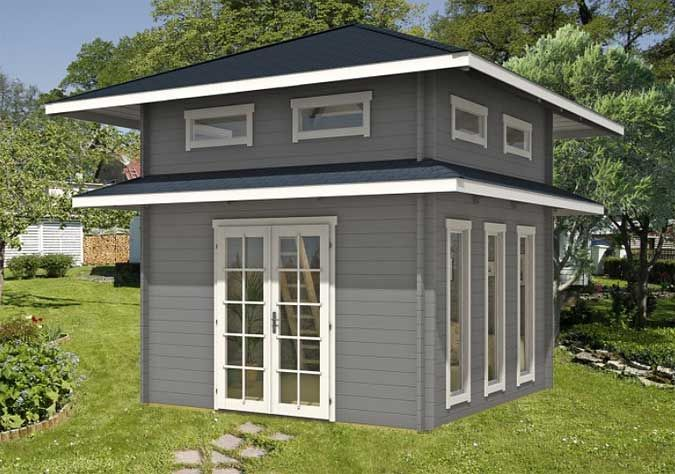 ein gartenhaus mit schlafboden mehr platz zum bernachten tiny houses and house. Black Bedroom Furniture Sets. Home Design Ideas