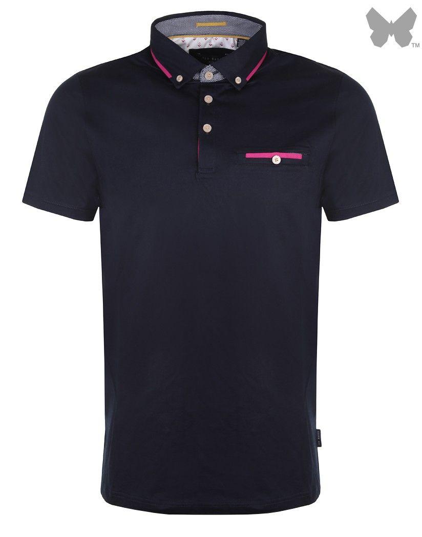 Ted Baker Men's Bannyan Jersey Polo Shirt - Navy