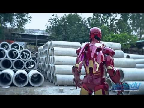 Killerbody Hero Iron Man Armour-Mark VII Laser Effect Display - YouTube