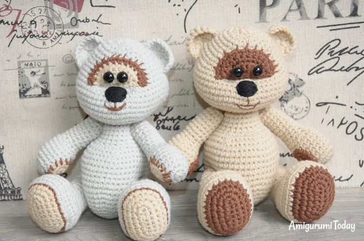 Dorable Crochet Patrón Carenado Oso Componente - Ideas de Patrones ...