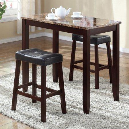 Tremendous Roundhill Furniture 3 Piece Counter Height Glossy Print Machost Co Dining Chair Design Ideas Machostcouk