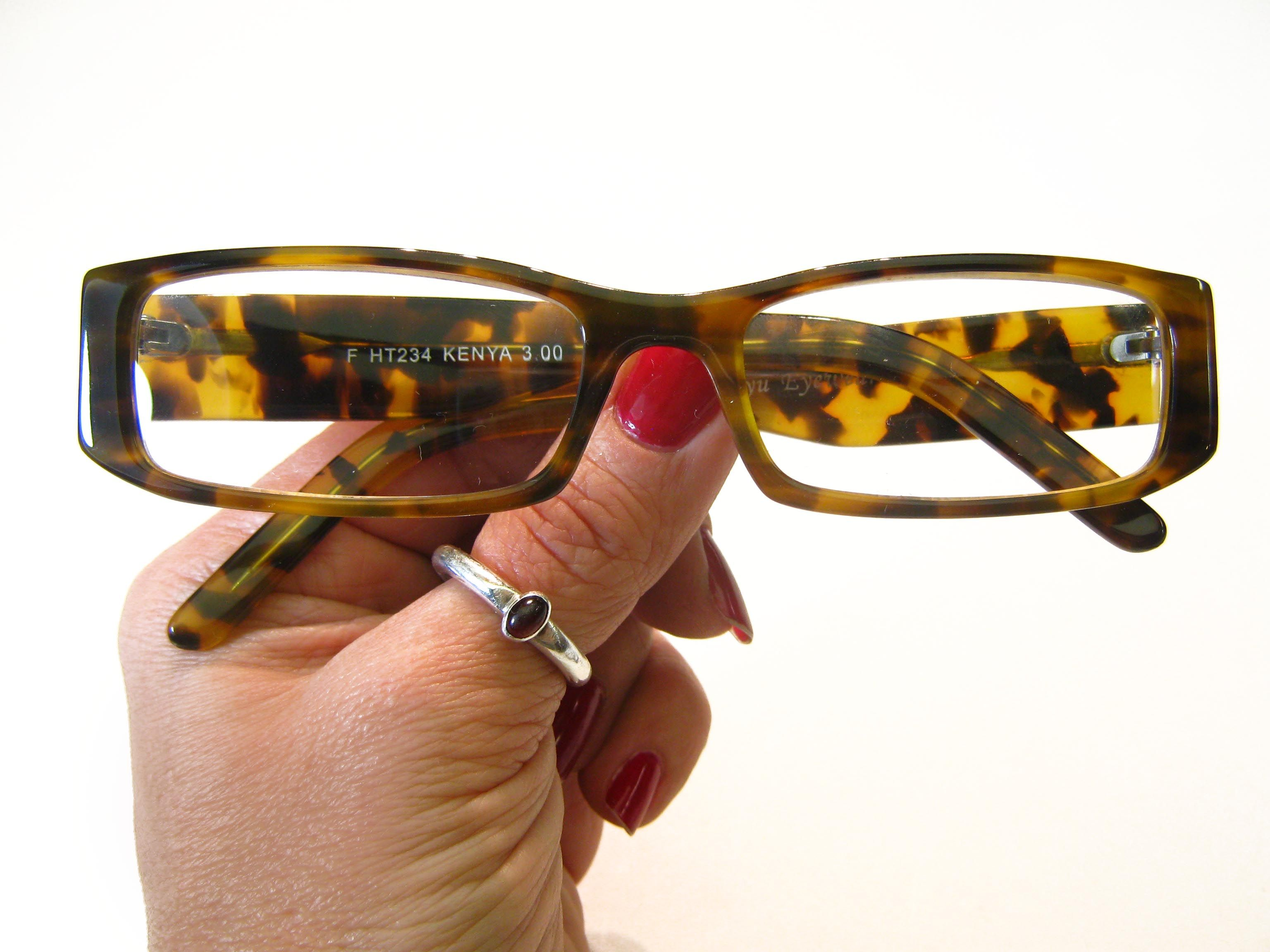 Safari inspired leopard tortoise reading glasses. A nice narrow ...
