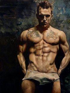 Gay muscle paintings