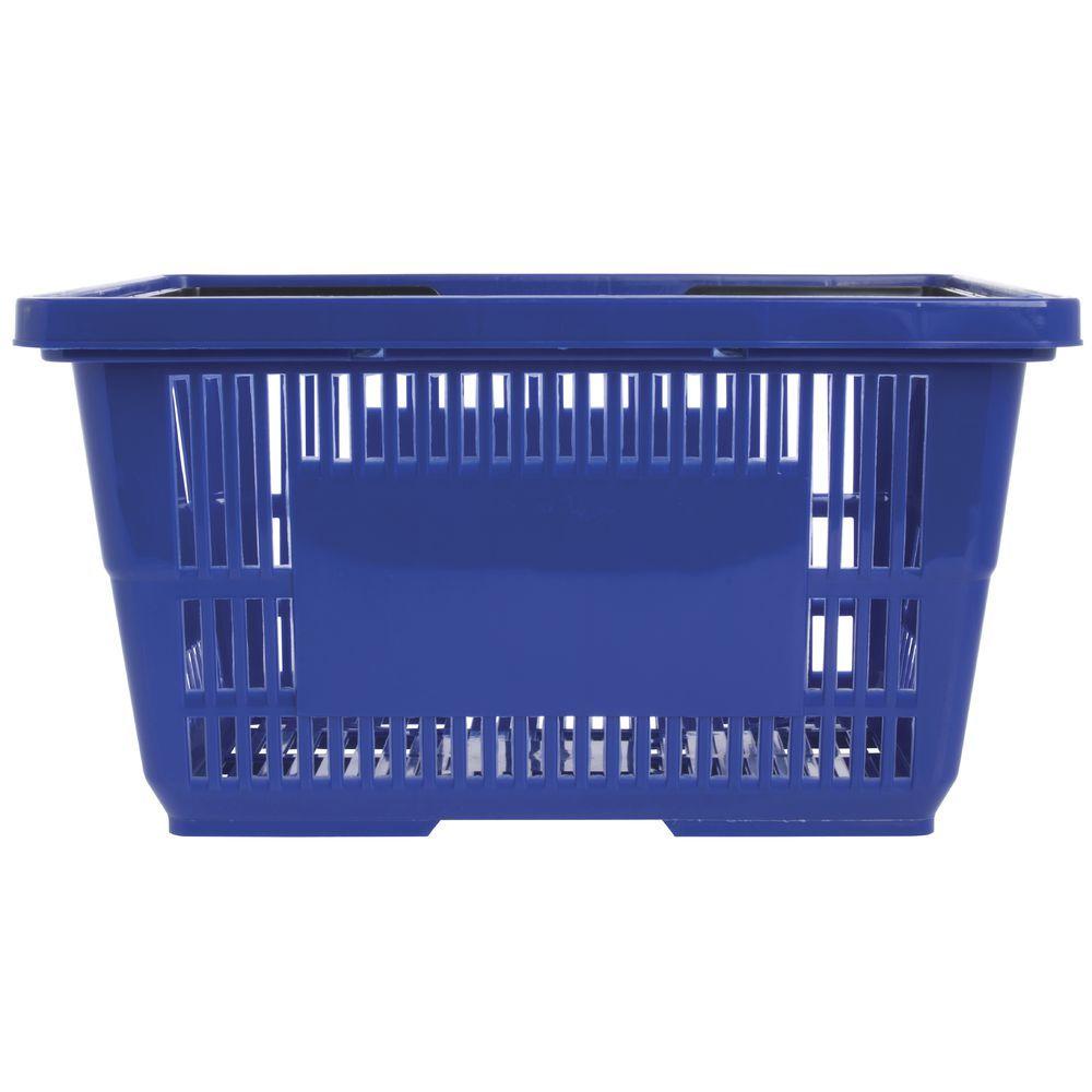 Blue Plastic Shopping Baskets 18x12x10 Shopping Basket Basket