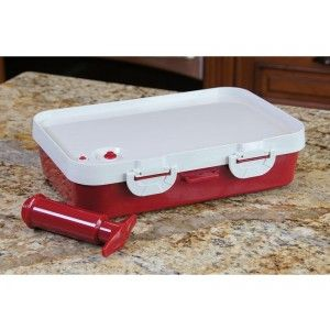 On Sale! The Jaccard Instant Marinater! The Complete BBQ preparation tool that instantly marinates, stores and helps transport the meat to and from the grill.