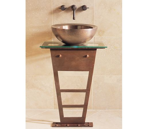 i beam pedestal with glass counter
