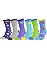 3954bf1369d81 Atano 6 Pairs of Mens Aliens & Space Rockets Socks 7-11 | Unique ...