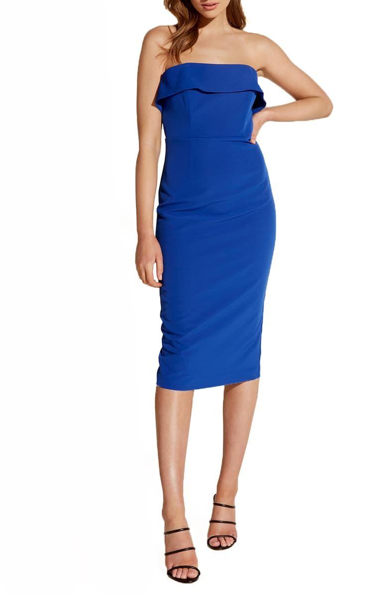 Bardot Georgia Strapless Cocktail Dress Nordstrom Strapless Midi Dress Strapless Cocktail Dresses Fashion Clothes Women [ 1196 x 780 Pixel ]