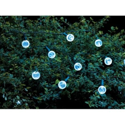 Target Solar String Lights New Threshold™ Globe Solar String Lights White 60 Count HOME