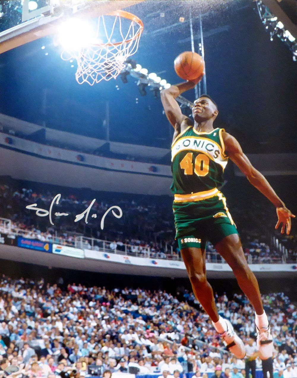 Shawn Kemp Autographed 16x20 Photo Seattle Sonics