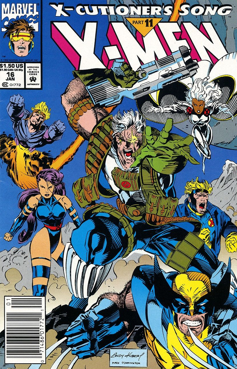 X Men 16 By Andy Kubert Mark Pennington Marvel Comics Covers Marvel Comics Art Comics