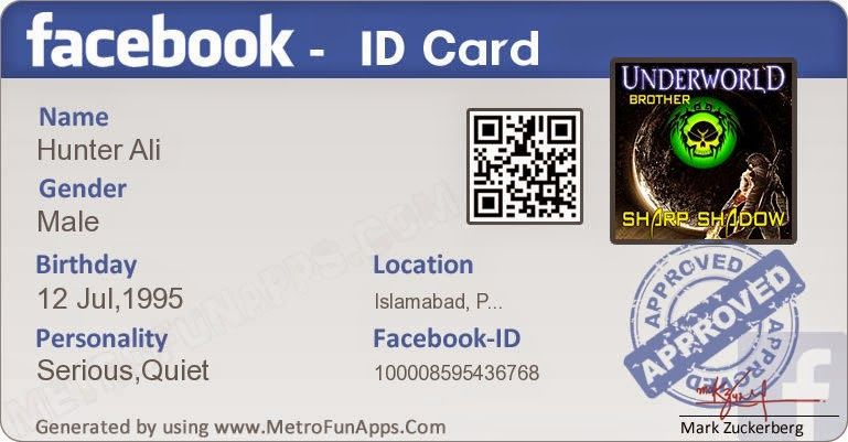 Create Your Verify Facebook ID Card - Pak Dragon | Places to