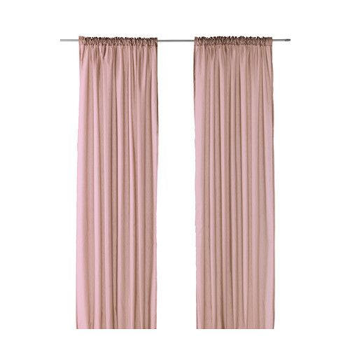 VIVAN Curtains, 1 pair IKEA Thin curtain defuses light softly