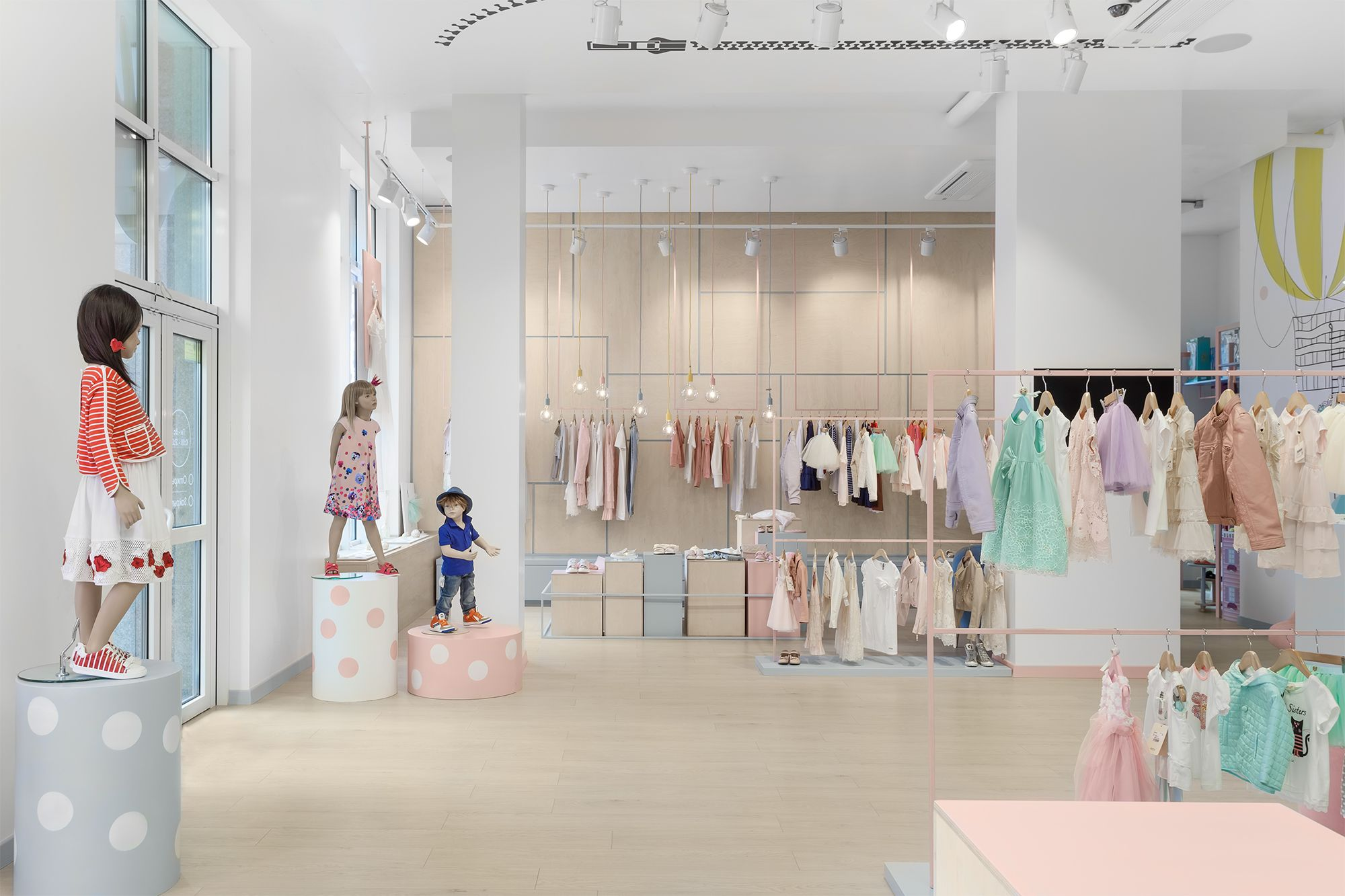 Childrens clothing shop in Kyiv Ukraine designed by Lena Petrescu
