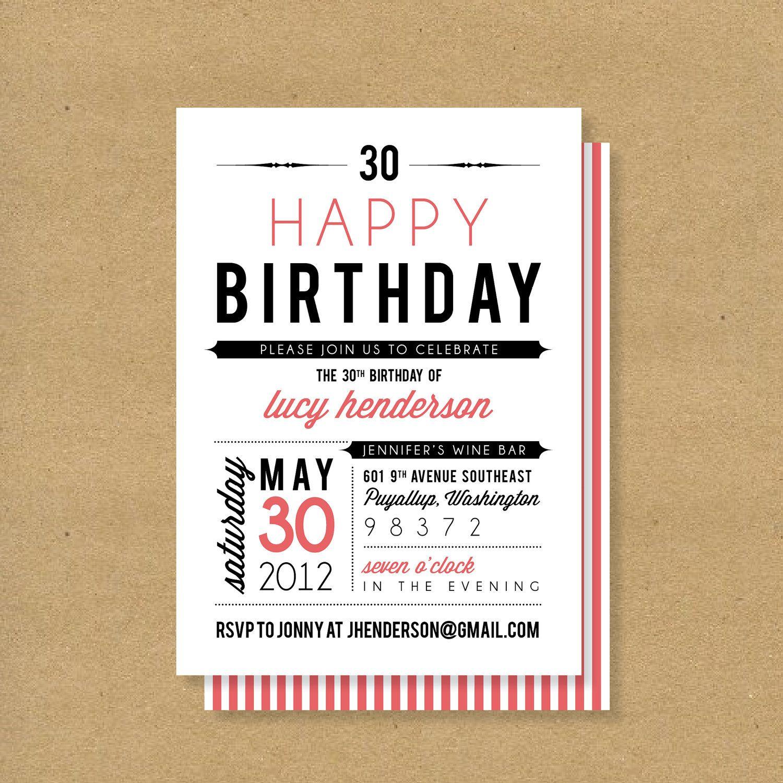 Adult Or Child Birthday Invitation Fonts Via Etsy - Birthday invitation fonts