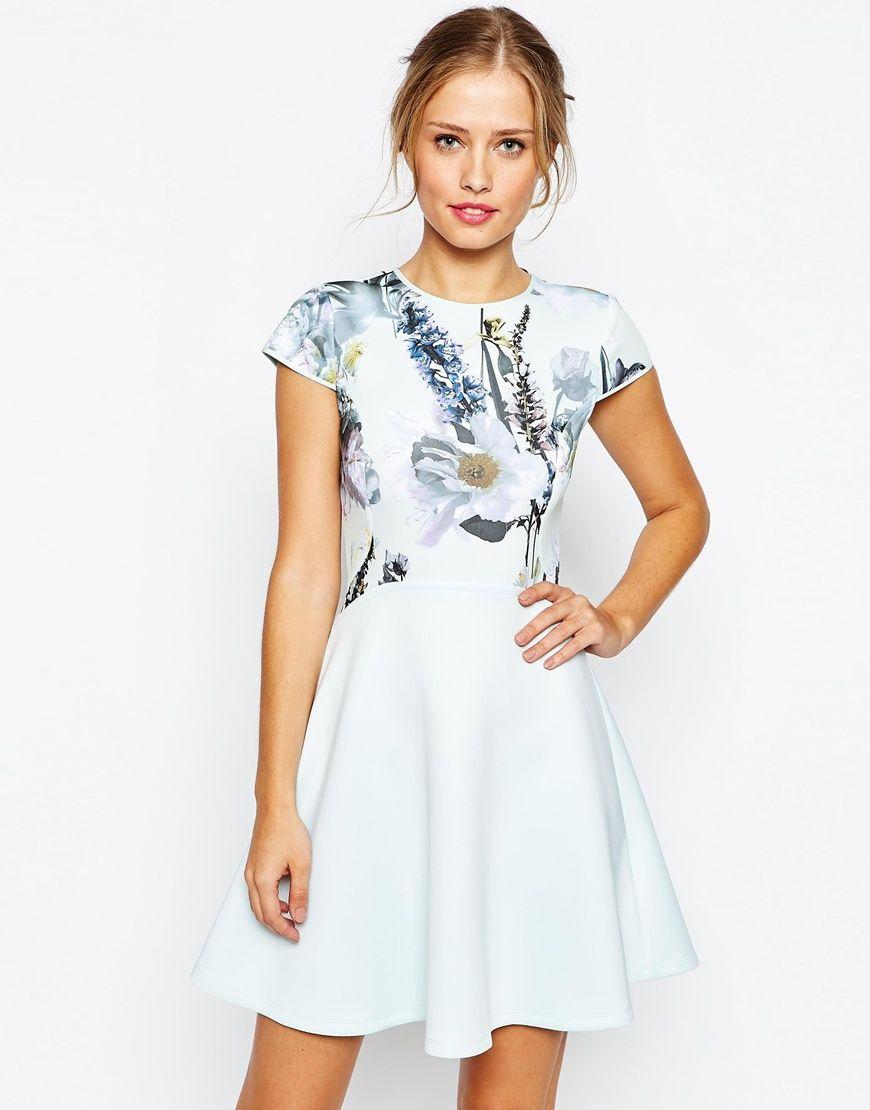 75117599756 Image 1 of Ted Baker Faythe Torchlit Floral Skater Dress ...