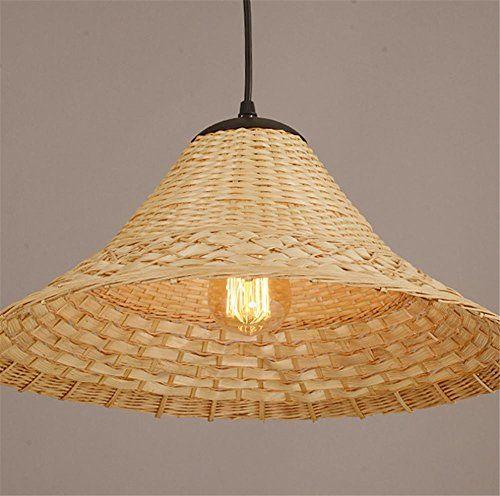 MEIWEI KronleuchterBambus handgemachte Bambus Kronleuchter - led lampen schlafzimmer