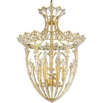 Schonbek Rivendell 9-Light Foyer Pendant Finish / Crystal Color: Etruscan Gold / Swarovski Spectra
