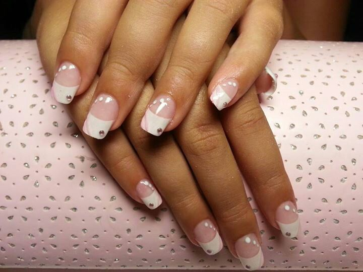 Soft Pink And White Nail Art For 11 Year Old Daughter White Nail Art Nails Nail Art
