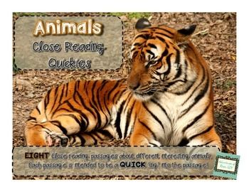 Have trouble fitting everything in your day but REALLY like close reading!?  Then you're like me!  These passages are designed to be QUICK close reading activities that will get your kids reading and digging, but each activity will only last 5-10 minutes.