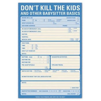 Knock Knock Don't Kill The Kids Pad this would be better