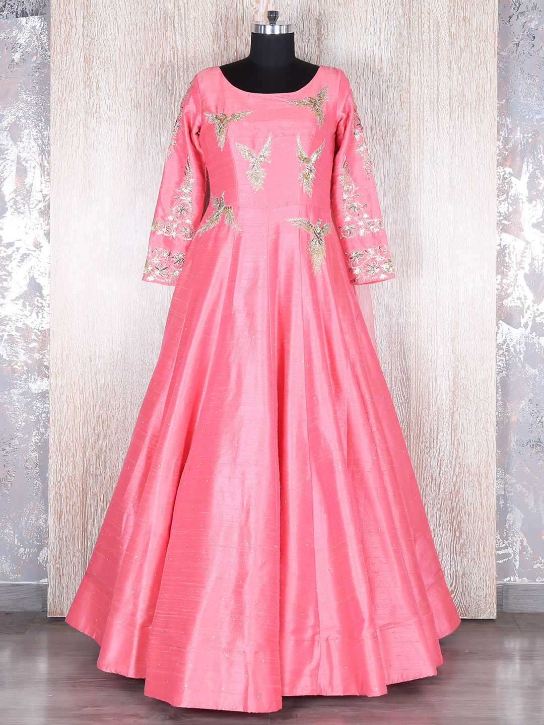 Pink Classy Silk Gown | Buy Designer Gowns at G3 Fashion | Pinterest