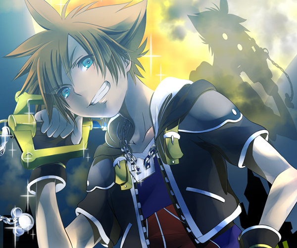 Sora Kingdom Hearts Lineart : Kh fan artwork of sora and the gang destiny islands kingdom