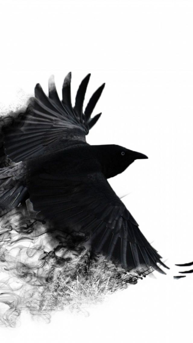 Download Wallpaper 640x1136 Crow Wings Bird Swing Iphone 5s 5c 5 Hd Background Crow Tattoo Raven Tattoo Abstract Wallpaper
