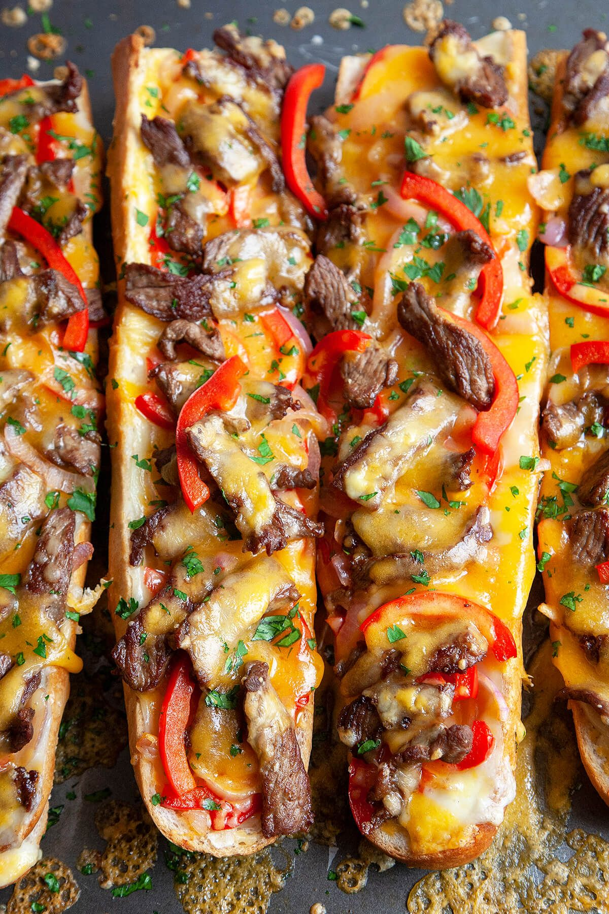 Cheesy Philly Cheesesteak Bread | Foodtasia