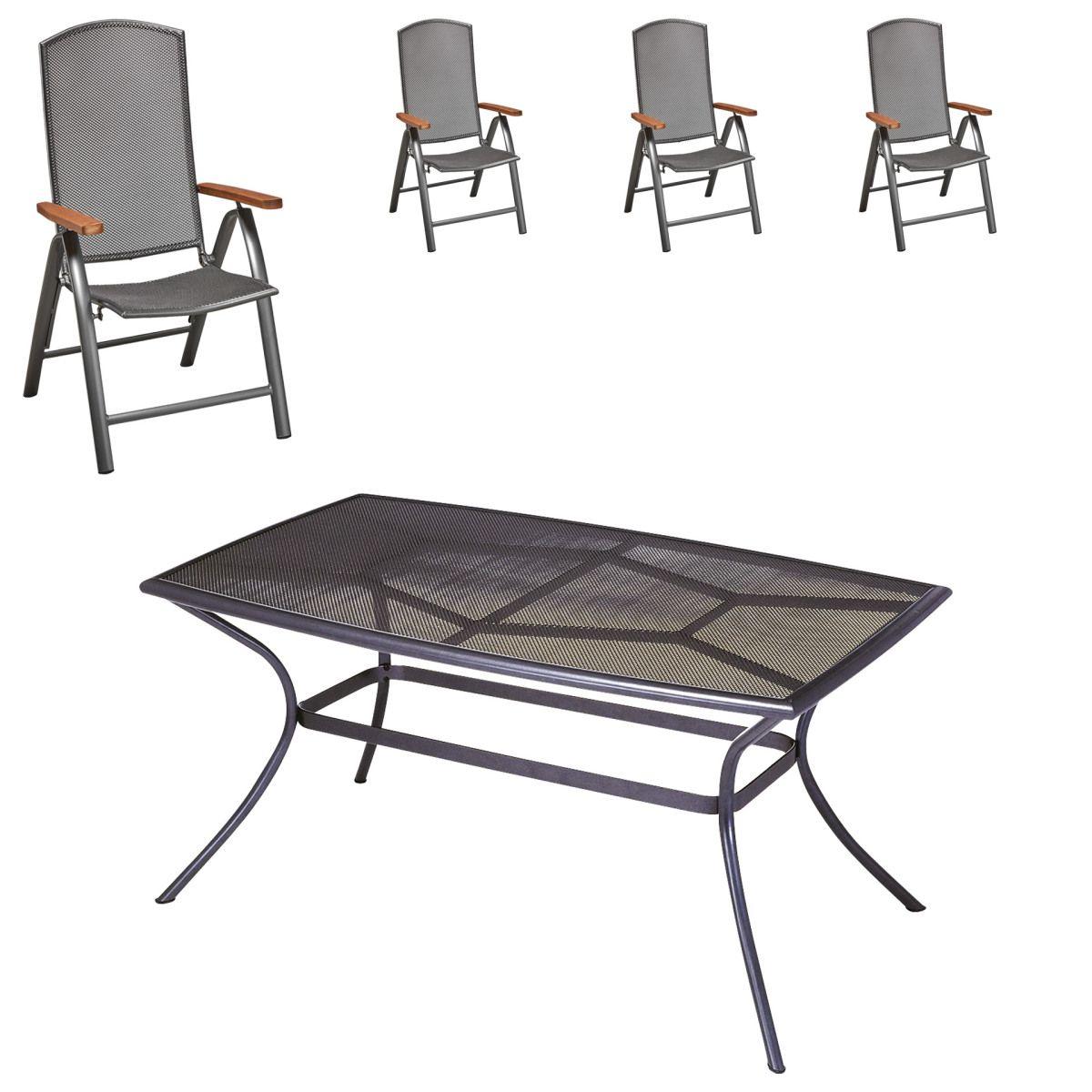 Gartenmöbel-Set Vega/Venus (90x150, 4 Stühle) Jetzt bestellen unter ...