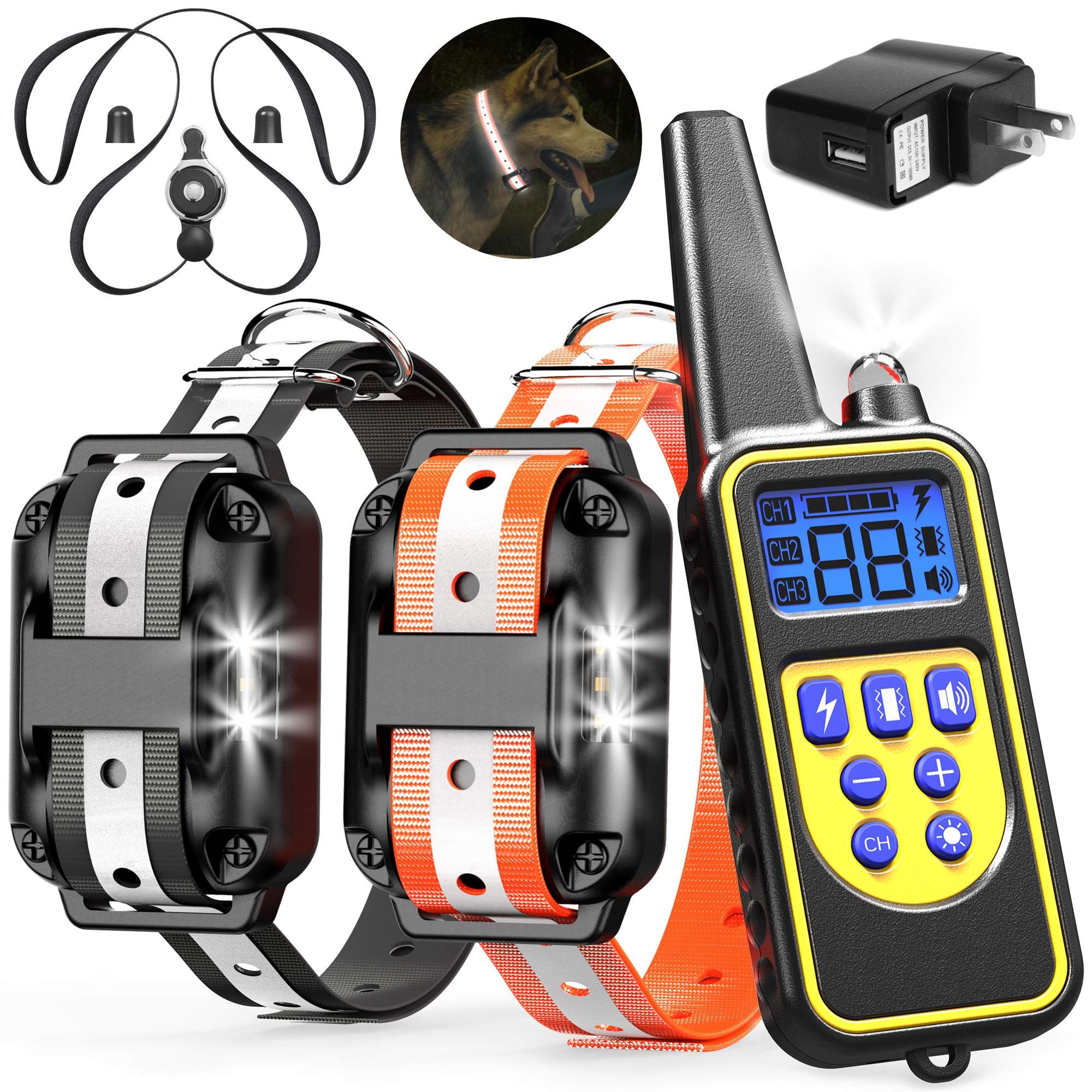 Veckle Dog Training Collar 2600ft Rechargeable Shock Collar For 2