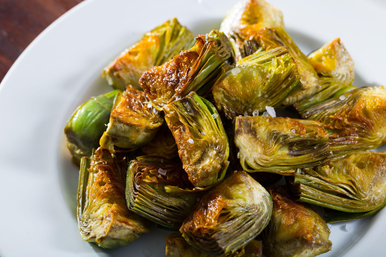 Oven Fried Baby Artichokes F Factor Artichoke Recipes Healthy Baby Artichoke Recipes Vegetable Recipes