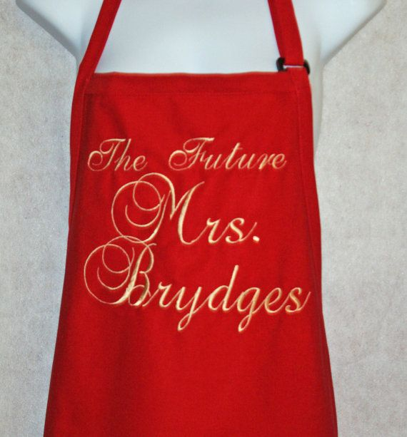 Future Mrs.Custom Apron Embroidered Monogrammed by AGiftToTreasure
