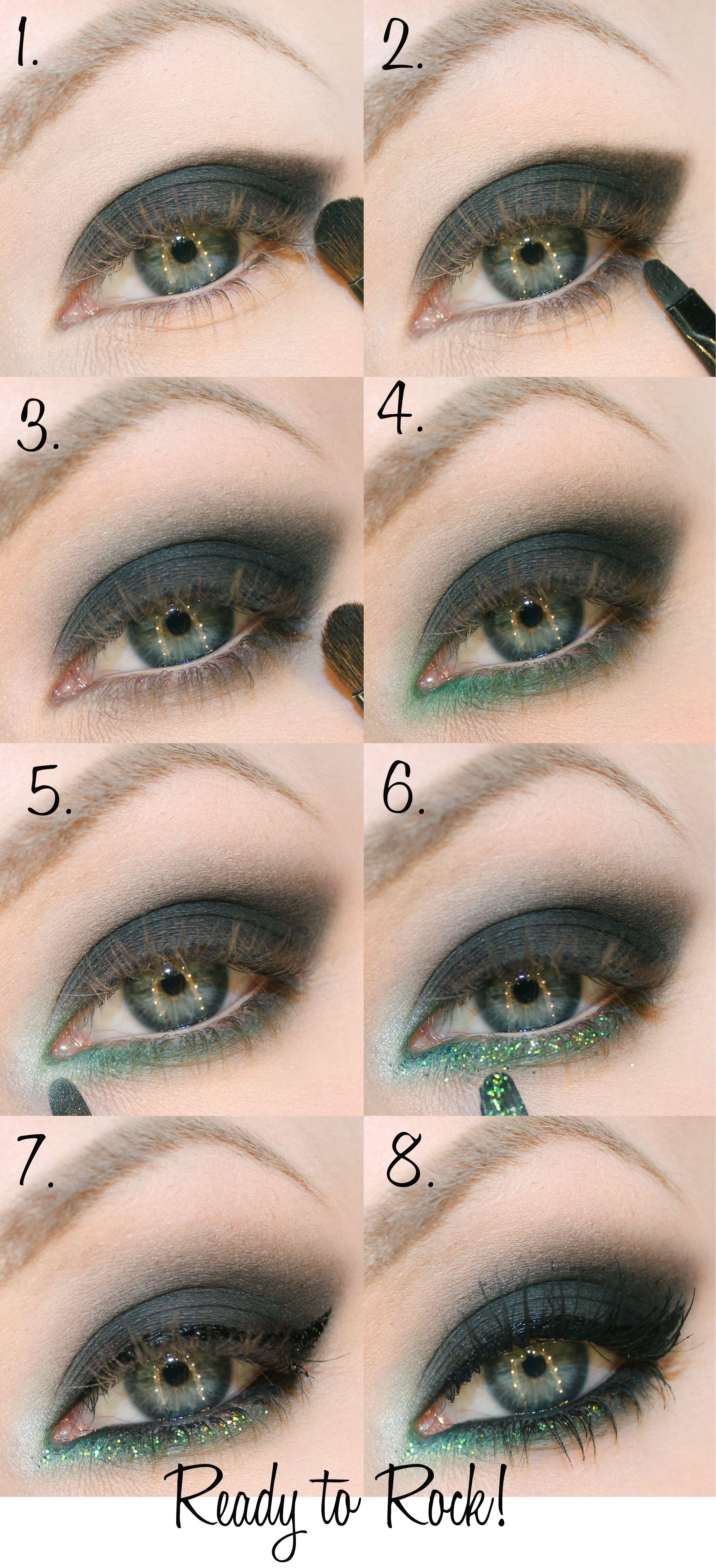 green smokey eye makeup new year | windows to the soul | eye