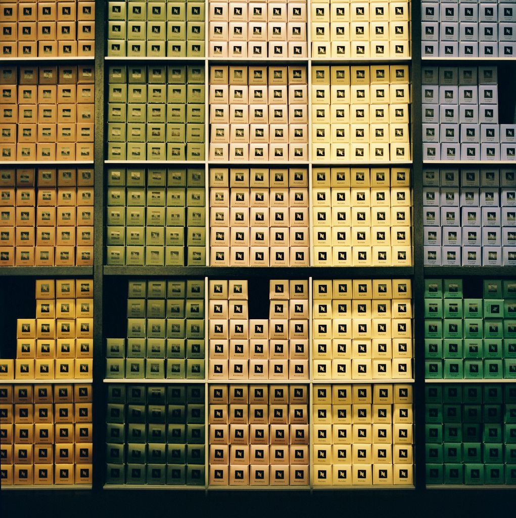 Love The Use Of Color Blocking Nespresso Wall Coffee Design